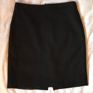 J Crew black wool blend lined straight skirt
